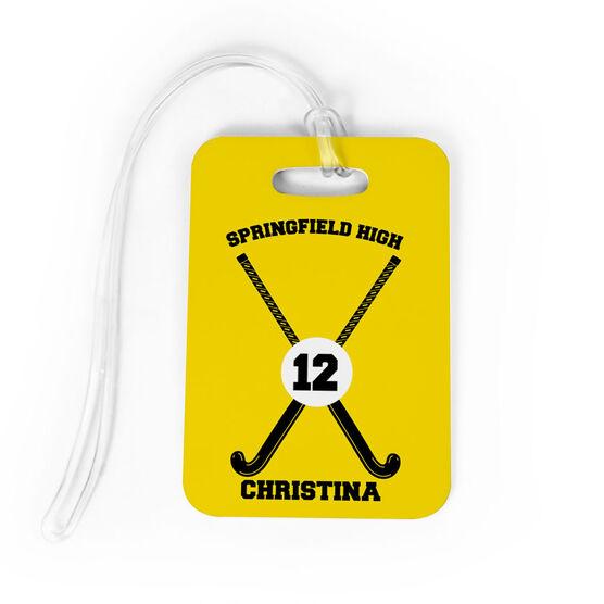 Field Hockey Bag/Luggage Tag - Personalized Team Crossed Sticks