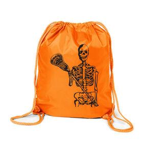 Guys Lacrosse Sport Pack Cinch Sack - Skeleton (Black)