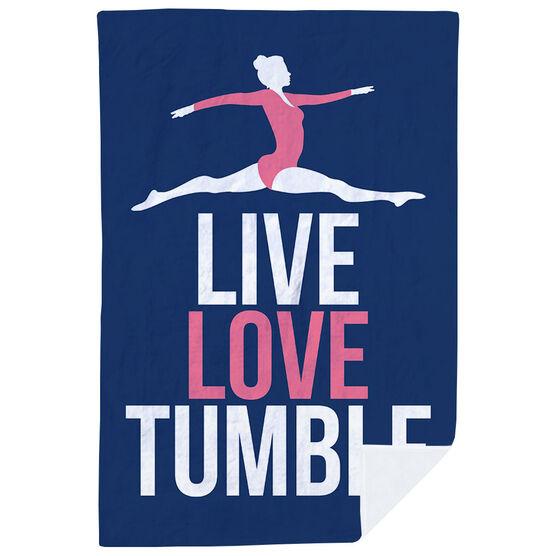 Gymnastics Premium Blanket - Live Love Tumble