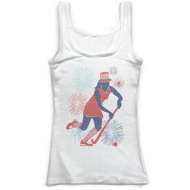 Field Hockey Vintage Fitted Tank Top - USA Field Hockey Girl