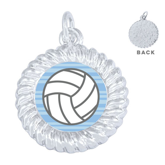 Volleyball Braided Necklace - Ball