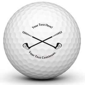 Crossed Clubs Golf Balls