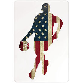 """Basketball 18"""" X 12"""" Aluminum Room Sign - Grand Old Dribble"""