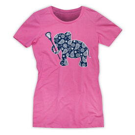Girls Lacrosse Women's Everyday Tee - Lax Elephant