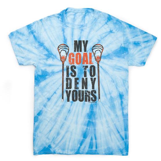 Guys Lacrosse Short Sleeve T-Shirt - My Goal Lacrosse Tie Dye