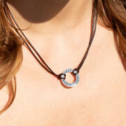 Cheerleading Message Ring Cord Necklace