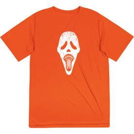 Guys Lacrosse Short Sleeve Performance Tee - Ghost Face