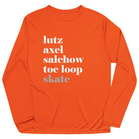Figure Skating Long Sleeve Performance Tee - Skate Mantra