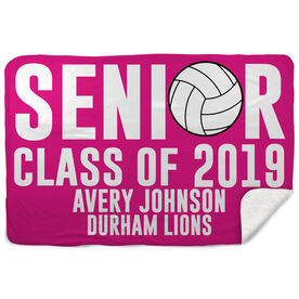 Volleyball Sherpa Fleece Blanket - Personalized Senior Class Of