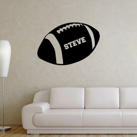 Personalized Football Removable ChalkTalkGraphix Wall Decal