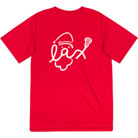 Lacrosse Short Sleeve Performance Tee - Santa Lax Face