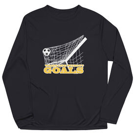 Soccer Long Sleeve Performance Tee - What's Life Without Goals
