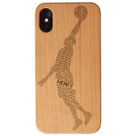 Basketball Engraved Wood IPhone® Case - Word Guy