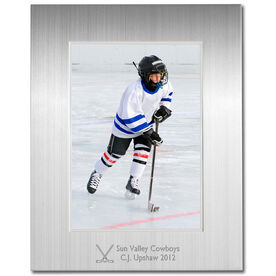 Engraved Hockey Frame Silver 5 x 7 with Hockey Icon