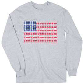 Baseball Tshirt Long Sleeve Patriotic Baseball