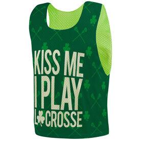 Guys Lacrosse Pinnie - Kiss Me I Play Lacrosse