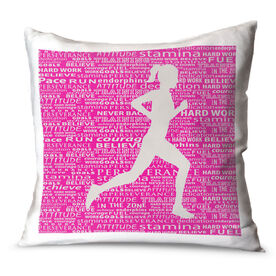 Running Throw Pillow Inspiration Female