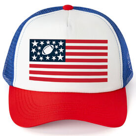 Football Trucker Hat - American Flag