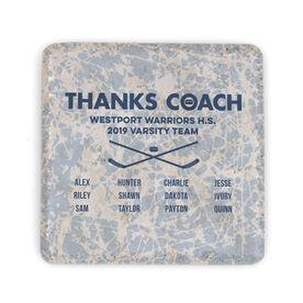 Hockey Stone Coaster - Thanks Coach Roster