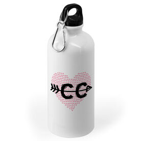 Cross Country 20 oz. Stainless Steel Water Bottle - CC Heart