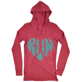 Women's Running Lightweight Performance Hoodie Love The Run