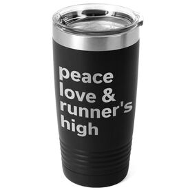 Running 20oz. Double Insulated Tumbler - Peace Love & Runner's High
