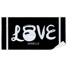 Cross Training Premium Beach Towel - Love Kettlebells