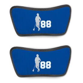 Guys Lacrosse Repwell™ Sandal Straps - Latitude Lax Player with Number