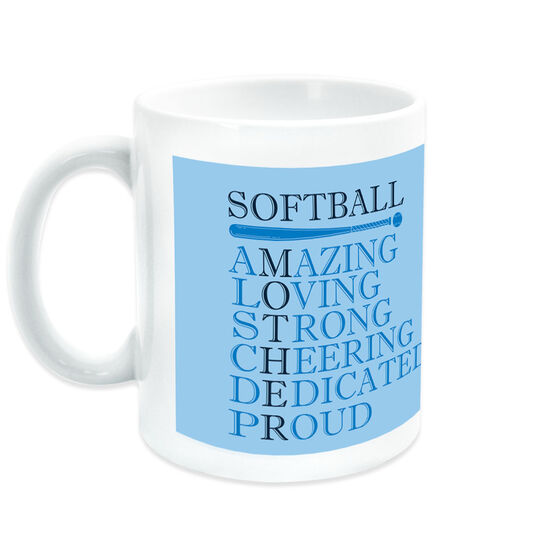 Softball Coffee Mug - Mother Words