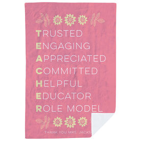 Personalized Premium Blanket - Teacher Words
