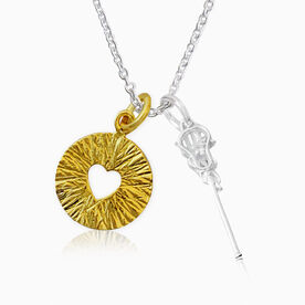 Livia Collection Sterling Silver, 14K Gold Vermeil and Cubic Zirconia Lacrosse Triumph Necklace
