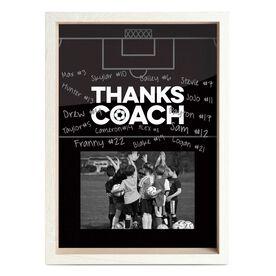 Soccer Premier Wooden Frame - Thanks Coach