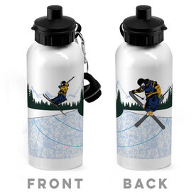 Skiing 20 oz. Stainless Steel Water Bottle - Go For Air