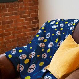 Tennis Premium Blanket - Racket And Ball Pattern