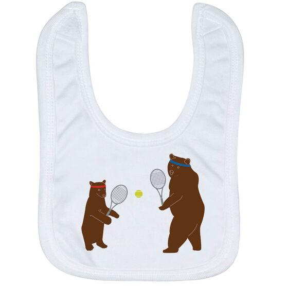 Tennis Baby Bib - Bears
