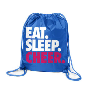 Cheerleading Sport Pack Cinch Sack Eat. Sleep. Cheer.