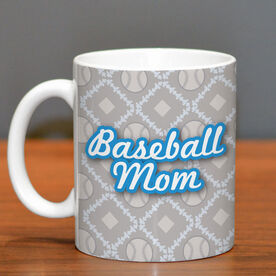 Baseball Coffee Mug Mom With Ball Pattern