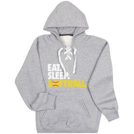 Softball Sport Lace Sweatshirt Eat. Sleep. Softball.