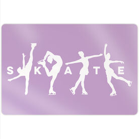 "Figure Skating 18"" X 12"" Aluminum Room Sign - Skate With Silhouettes"