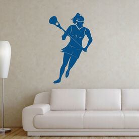 Girl Lacrosse Player Removable LulaGraphix Wall Decal