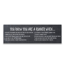 """Running 12.5"""" X 4"""" Removable Wall Tile - You Know You Are A Runner When"""