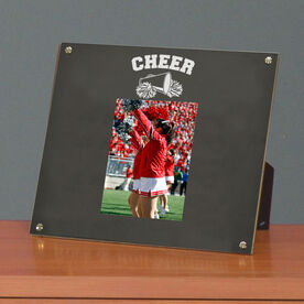 Cheerleading Photo Display Frame Cheer Megaphone