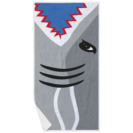 Swimming Premium Beach Towel - Shark Attack