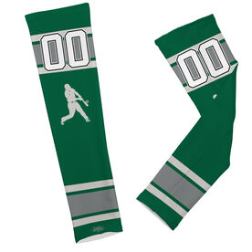 Baseball Printed Arm Sleeves Baseball Batter and Number