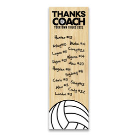 "Volleyball 12.5"" X 4"" Removable Wall Tile - Thanks Coach (Autograph) Vertical"