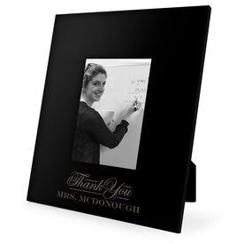 Teacher Engraved Picture Frame - Thank You Teacher