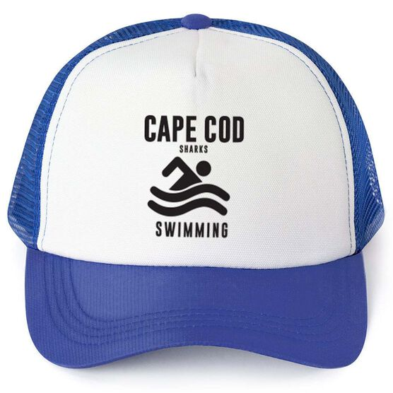 Swimming Trucker Hat - Team Name With Text