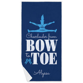 Cheerleading Premium Beach Towel - From Bow to Toe