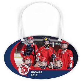 Hockey Oval Sign - Team Photo and Logo