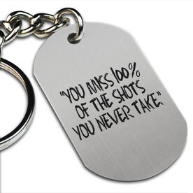 You Miss 100% Printed Dog Tag Keychain